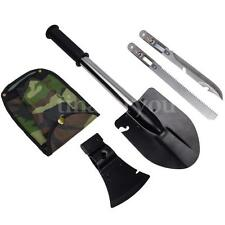 4 in 1 Survival Camping Hiking Shovel Axe Saw Gut Emergency Gear Kit Tools New