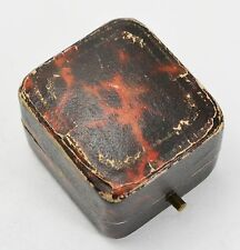 Antique RING BOX with Push-button Closure - Engagement Victorian Gift Display