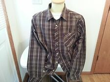 Horny Toad long sleeve button down brown, green, white shirt - mens XL