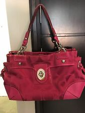 Pink Coach SIGNATURE BAG # J0969 -14507 Pre-Owned