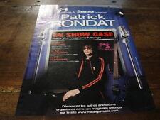 PATRICK RONDAT - PUBLICITE EN SHOW CASE !!!!!!!!!!