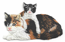 CAT & KITTEN - PETS - ANIMALS - CATS -Iron On Embroidered Applique Patch