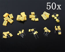 50pcs 10 values Polypropylene Safety Film Capacitor Assortment Kit Set