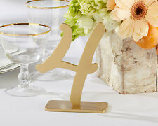 Gold Classic Table Numbers 1-18 Wedding Reception Anniversary Birthday Tables