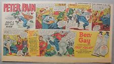 Ben-Gay Ad: Peter Pain: Dulls A Gay Old Blade ! 7.5 x 14 inches