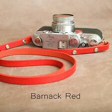 "The 1901 ""Eggleston""  Leather Camera Strap - 115cm - Barnack Red"