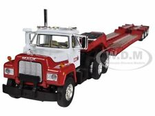 MACK R WITH TRI-AXLE LOWBOY TRAILER CASE IH 1/64 BY FIRST GEAR 60-0259