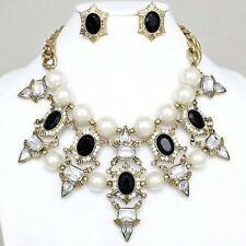 Antique Pearl and Gem Stones Necklace