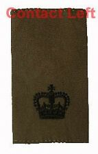 PAIR Olive Green Major RANK SLIDES ( Royal Marines