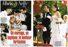 Coupure de presse Clipping 2004 (3 pages ) Star Academy mariage Mario et Nelly