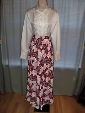 KEEPSAKE THE LABEL FLORAL PRINT LINED FOUNDATION WIDE LEG PANTS GORGEOUS SMALL/4