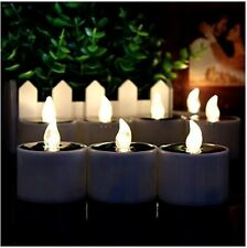 6pcs Solar Power LED Tealight Flickering Flameless Candle Tea Night Light