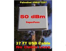 50dBm 2.4G 1Watt USB Smart Antenna & 37ft Cable, Mile Long Range WIFI 4 Router