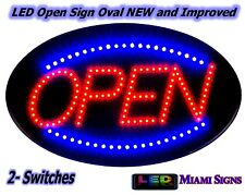 New Brighter LED Open Sign Neon Letrero Abierto para Negocio 2 Switches LED Sign