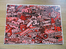 Sticker Bomb sheet 3e - Red - A4 size