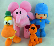 Pocoyo Elly Pato Loula Soft 4pcs Of Set Plush Stuffed Figure Toy Doll