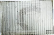 ORIGINAL 1915 BOSTON BRAVES FIELD STADIUM HANDDRAWN INK/PENCIL VELUM BLUEPRINT