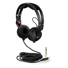 Black HD-25 Spiral DeLuxe Cable for Sennheiser HD 25 and Ear Pads Kit
