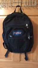 JanSport Black Back Pack School Day Bag Lap Top Carrier