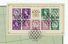 GREAT BRITAIN 2008 MSNI153 COUNTRY DEFINITIVES CANCELLED 29.9.2008