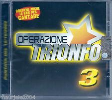 Operazione Trionfo 3 (2002) CD NUOVO Io vagabondo. Maniac. Tutti i brividi del m