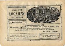 Stampa antica pubblicità GRAND HOTEL LOCARNO Locarno 1899 Old antique print