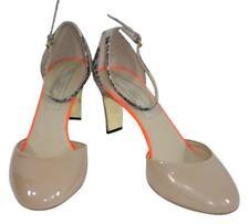 Stella McCartney Sz 7.5 Nude Patent Leather Snakeskin Strappy Mary Janes