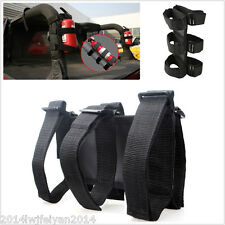 Black Nylon Tie Car SUV Portable Fire Extinguisher Mount Straps Holder Universal