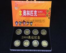 """China 2008 year """"29th Beijing Olympic Games"""" Souvenir coins 8PCS(in bookcard)"""