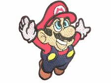 Super Mario Iron On Sew On Cartoon Gamer Shirt Bag Embroidered Badge Patch