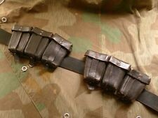 WWII German 89k Rifle Late War Ammo Pouches still on original belt, Nice Set!!!