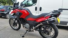 BMW G650GS G 650 GS Black Round stainless single Outlet Road Legal MTC Exhaust