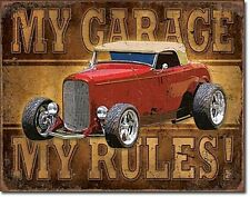 My Garage My Rules (Red Hot Rod) metal sign  (de)        Fast dispatch from UK