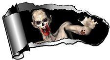 Grande Rasgado abierta hueco entre dientes Rip Torn de metal y alimentación Zombie Walker Etiqueta engomada del vinilo coche
