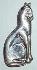 925 HALMARKED STERLING SILVER CAT BROOCH PIN 11.2 GR BT4
