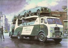 Land Rover Series 1 Leyland Transporter motoring art blank card LandRover 1950`s