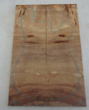 Poplar Burl Guitar Bookmatch Set Musical Luthier tone wood .35 x 7.25 x 22 - 305