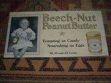 BEECH-NUT PEANUT BUTTER CARDBOARD TROLLEY SIGN