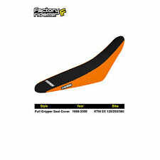 1998-2000 KTM SX 125/250/380 FULL GRIPPER SEAT COVER Orange/Black by Enjoy MFG
