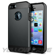 iPhone 5 5S Case Dual Layer Armor Shock Proof Hybrid Cover - Gunmetal Toronto