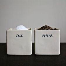 Rae Dunn: Porcelain Salt and Pepper Cellars, Square