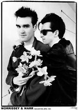 "MORRISSEY and MARR, Manchester 1982, 34"" x 24"" POSTER"