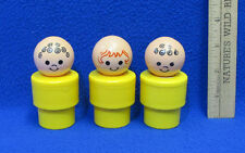 Vintage Lot of 3 Fisher Price 1974 Little People Chunky Large Figures