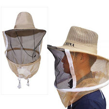 Beekeeping Cowboy Hat Mosquito Bee Insect Net Veil Head Face Protector