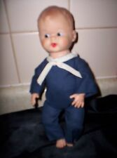VINTAGE  SAILOR DOLL RUBBERY PLASTIC 10 INCHES