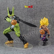2pcs DragonBall Dragon Ball Z Kai Super Saiyan Gohan VS Perfect Cell PVC Figure