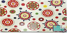 Vinyl Placemats Set of 4 Fresh Red Floral Tile Medallions 13x18 inch New