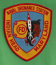 INDIAN HEAD NAVAL ORDNANCE STATION MARYLAND FIRE RESCUE PATCH