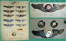 12 Post-WW2 Japanese Aviation 3 3/16 Inch Pilot Wings on Display Card - No Res