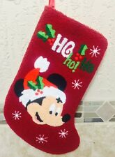 "DISNEY MICKEY MOUSE HO HO HO! CHRISTMAS HOLIDAY STOCKING 16"" - NEW ""o"""